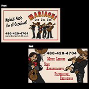 Mariachi Business Cards