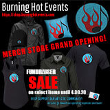 Burning Hot Events Merch Design