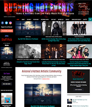 Burning Hot Events, Home Page