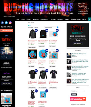 Burning Hot Events, Merch Page