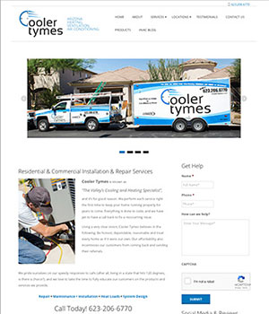 Cooler Tymes, Home Page