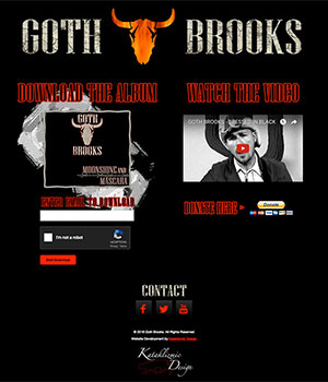 Goth Brooks Band, Home Page